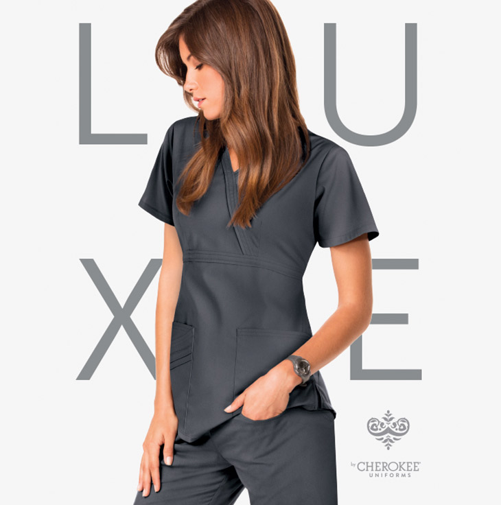 Cherokee Luxe medical apparel scrubs women